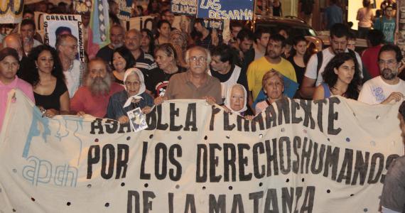 Masivo apoyo a APDH Matanza y Pimentel