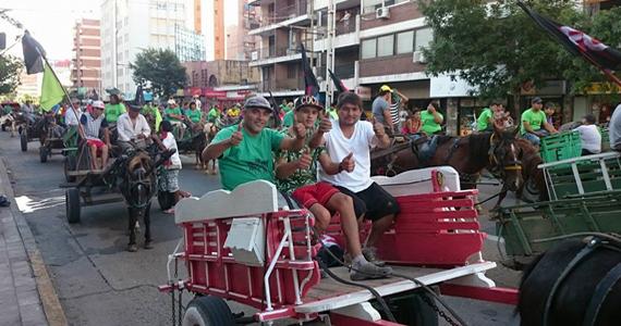 La Marcha de la  Gorra junto a los carreros