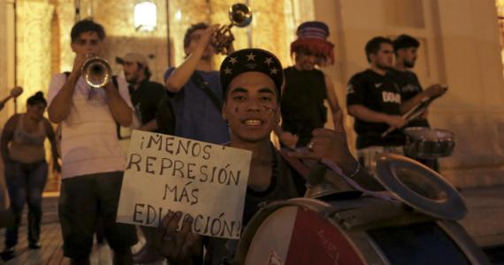 La Marcha de la Gorra contra el Estado policial