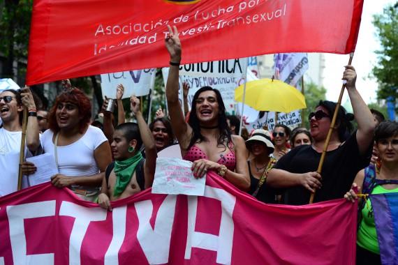 En las calles, la colectiva Lohana Berkins y la resistencia trava