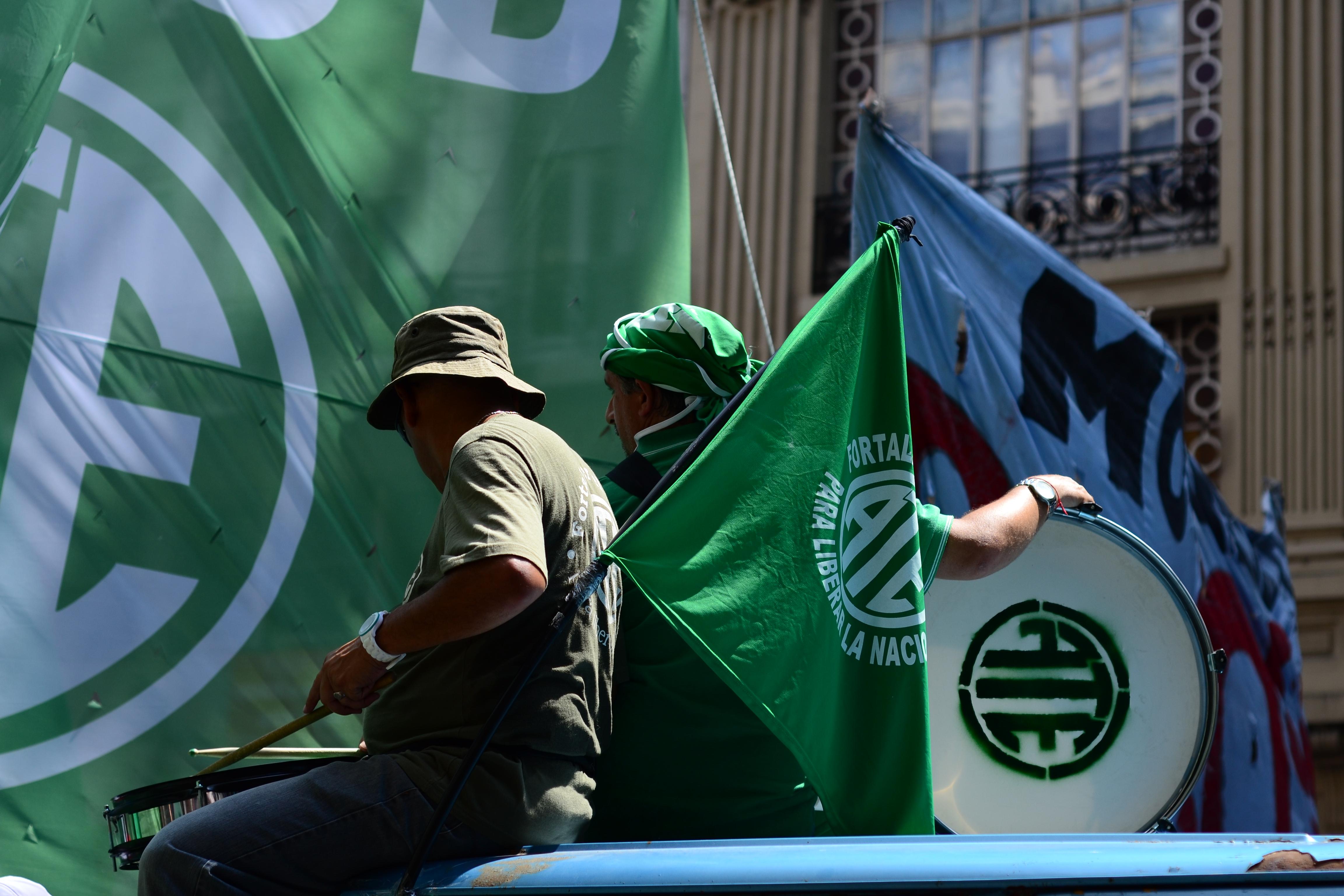 Voces de dirigentes opositores en la Jornada de paro y movilización