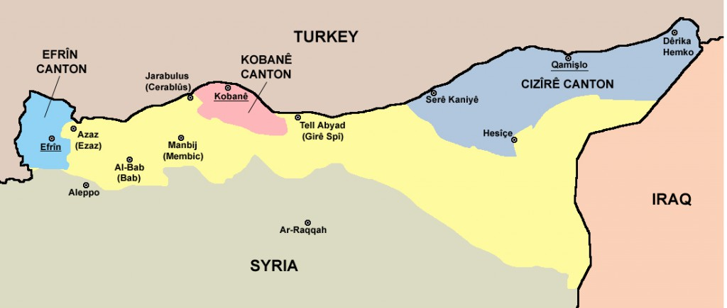 Rojava mapa 1
