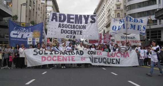 Sindicatos docentes contra el cierre la causa Fuentealba II