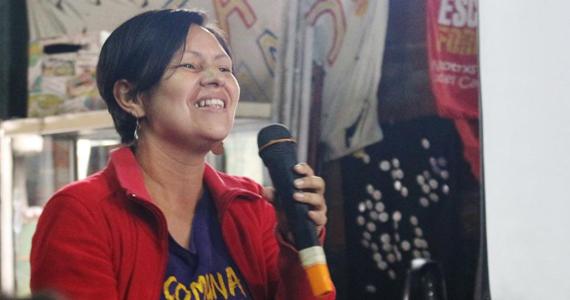 """Yolanda Saldarriaga: """"las mujeres somos la columna vertebral de la revolución"""""""
