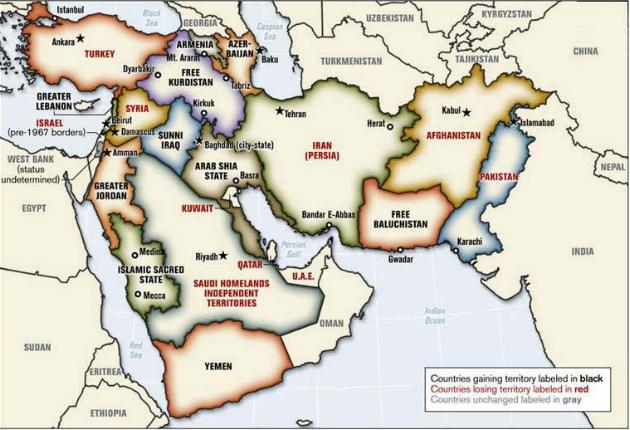 Mapa Medio Oriente Ampliado