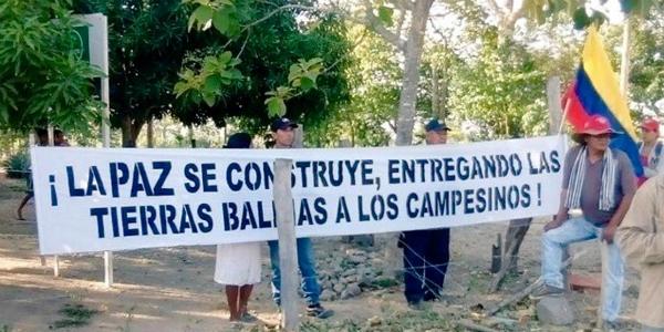 Campesinos y campesinas de Colombia recuperan tierras arrebatadas