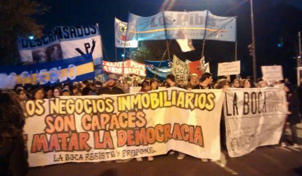 La Boca denuncia, resiste y se moviliza contra las políticas públicas con patotas PRO