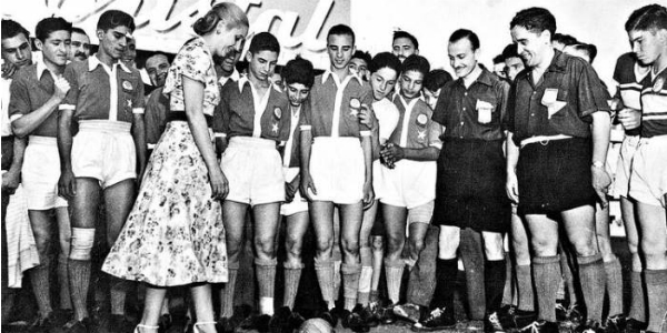Evita y el deporte nacional