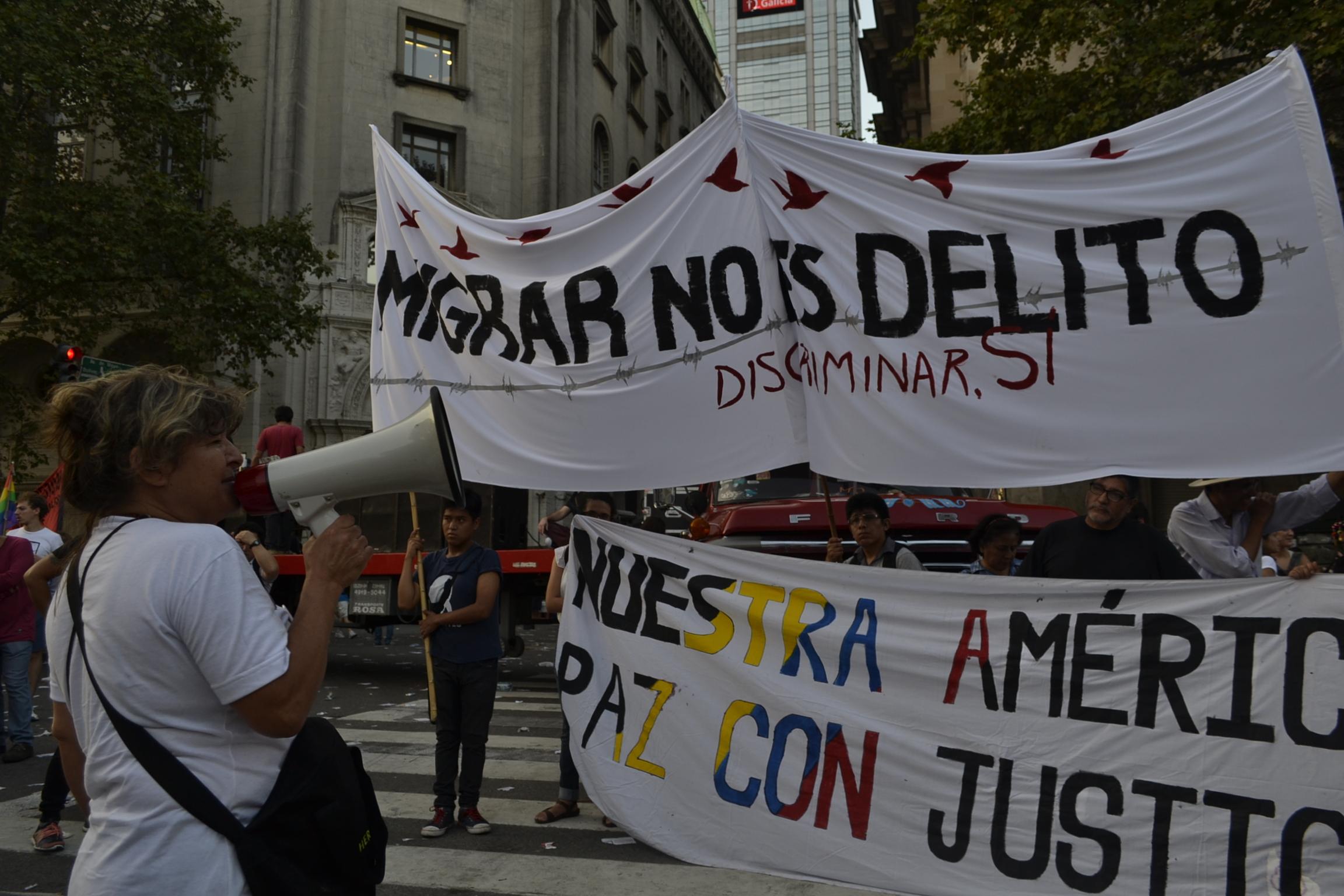"""#ParoMigrante. """"Rompemos fronteras, América es nuestra"""""""
