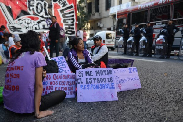"""Acampe frente al CNM: """"poner en escena la responsabilidad del Estado por su inacción"""""""