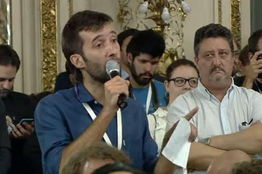 """Tártara, periodista despedido: """"Cada pregunta se desprende de la realidad"""""""