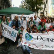 Protesta frente al ENACOM por el cierre de Radio FM Ocupas