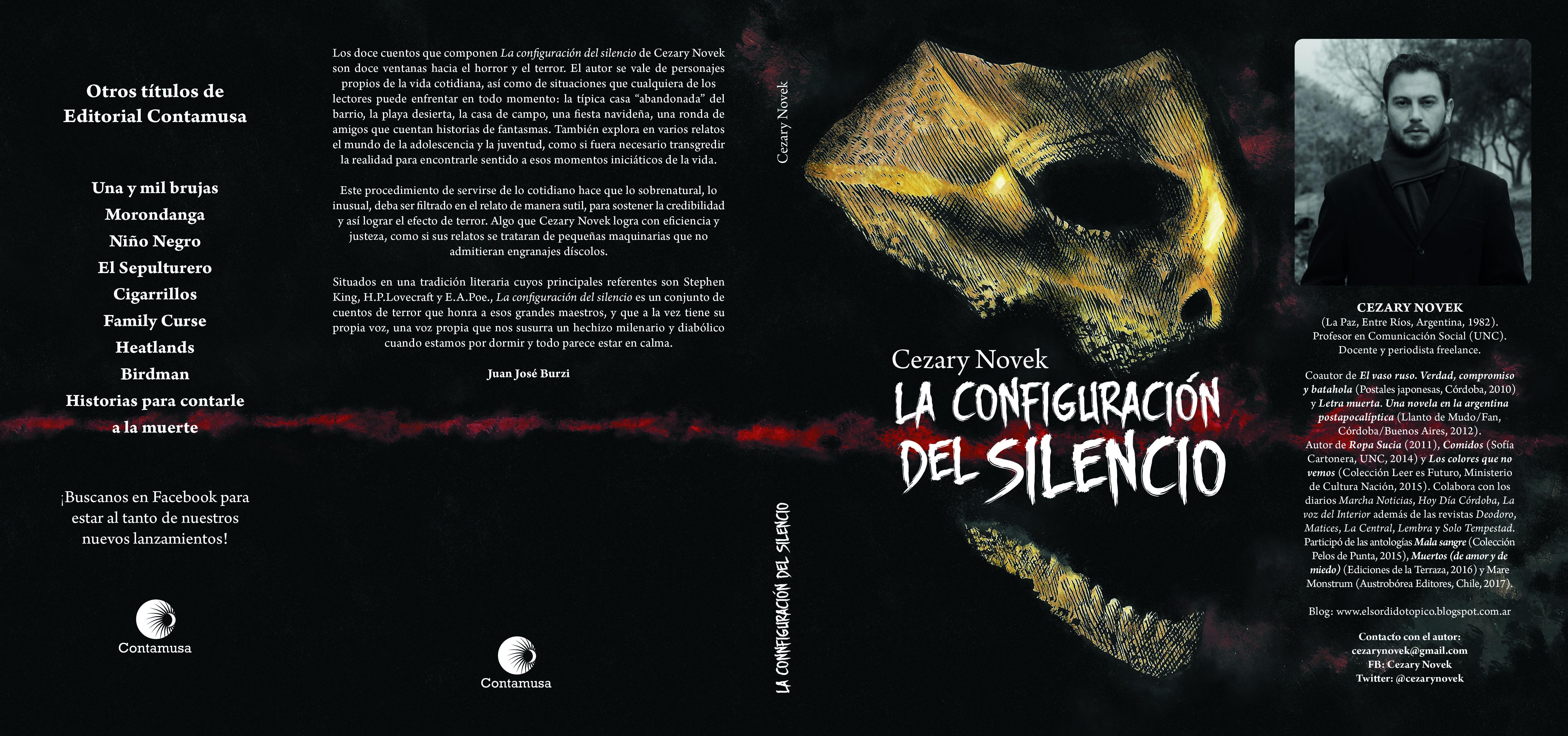 """""""La configuración del silencio"""". Nueva obra de literatura de terror argentina."""