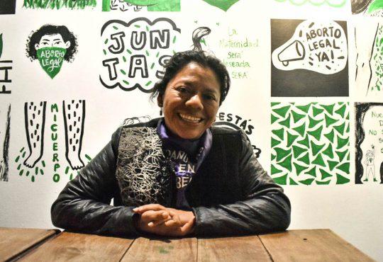 """Lolita Chávez Ixacaquic: """"Que se una pueblo con movimiento feminista es para el sistema lo más odioso"""""""