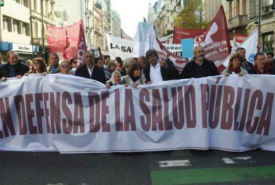 Paro por el derecho a la salud en la Provincia de Buenos Aires