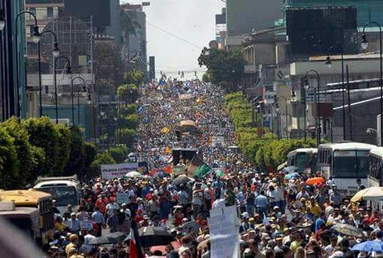 Costa Rica: Huelga general contra la reforma tributaria