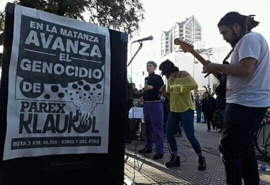 Por la vida y contra el genocidio de Klaukol: un festival para generar conciencia