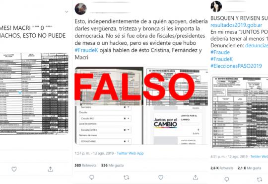 PASO: Los telegramas con errores no implican que haya habido fraude electoral
