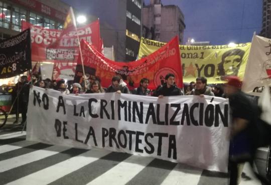 Movilización contra la criminalización de la protesta social