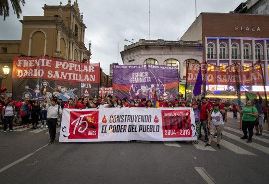 El Frente Popular Darío Santillán celebró sus 15 años en Tucumán