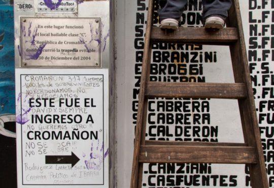 15 años de Cromañón: Pintar la pared de un montón de colores
