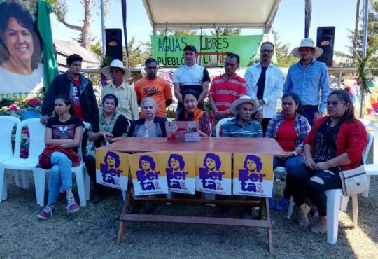 Justicia para Berta: ¡Aguas libres, pueblos libres!