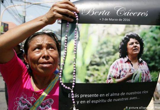 Honduras: responsables del asesinato de Berta Cáceres podrían ser liberados