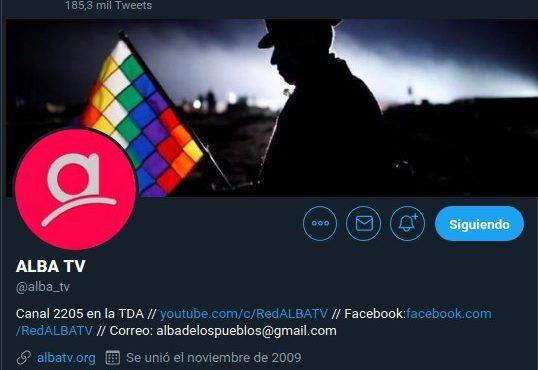 Venezuela: Twitter bloqueó cuenta del medio alternativo Alba TV