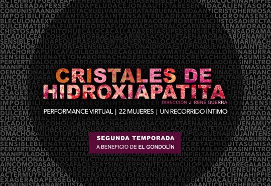 Cristales de Hidroxiapatita: una performance contra la violencia de género